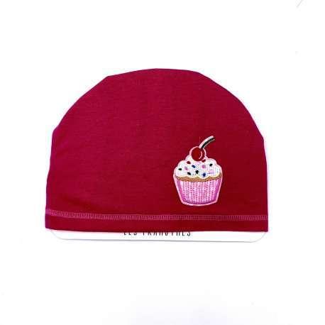 Bonnet rose cupcake
