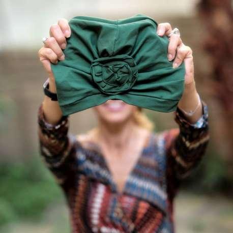 Bonnet Primavera Passé vert bouteille